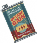 Octane Gain RETRO OIL CAN Funny Design For Rat Look VW etc. Vinyl Car sticker decal 110x70mm